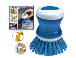 Brush with soap dispncer