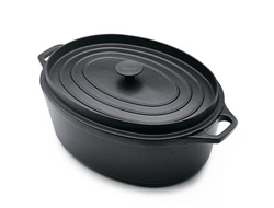 CAST IRON ROASTER WITH HANDLE NAD LID